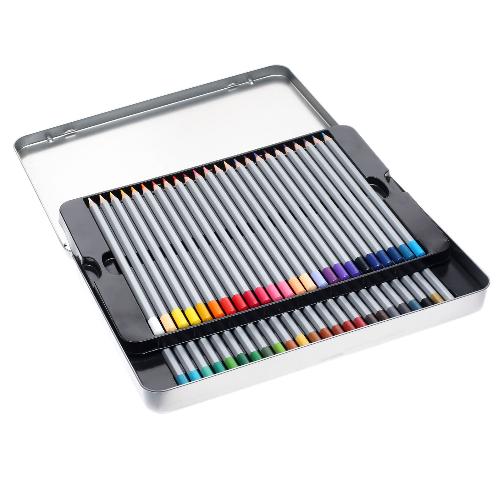 ФОТО Hot Sale Fine 48 Colored/set Artist Drawing Pencils Metal Tin Set Sketch