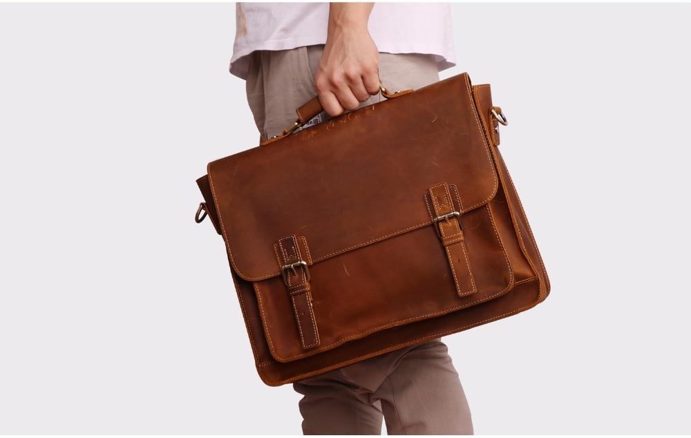 HTB1BTT8JuOSBuNjy0Fdq6zDnVXa2 JOYIR 2019 Vintage Men's Genuine Leather Briefcase Crazy Horse Genuine Leather Messenger Male Laptop Bag Men Business Travel Bag