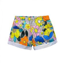 18M-6T Lovely Summer Style Girls Shorts Kids Beach Pants Flower Shorts for Girls fille bermuda menina