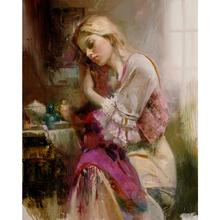 Women oil painting Love modern Pino Daeni large wall pictures canvas art home decor