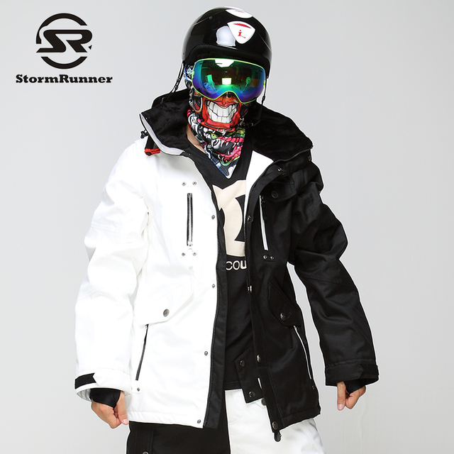 StormRunner Men s Snow ski Jacket white and black stitching snow jacket  outdoor sport jacket for boys 763e535a8
