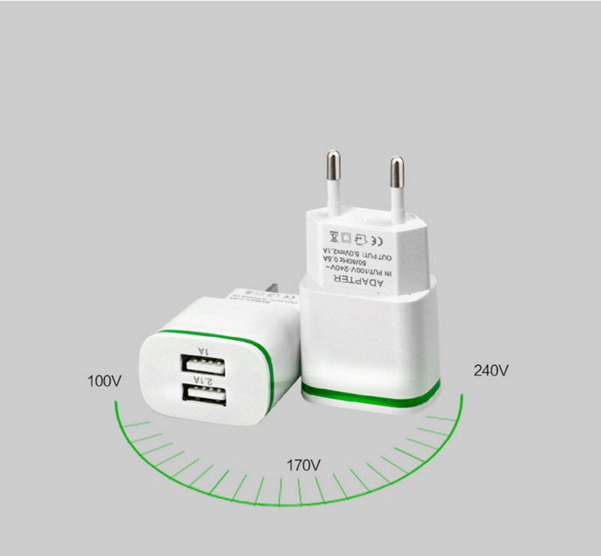 5V 2.1A Travel USB Charger Adapter EU Plug Mobile Phone for Philips S386 Xenium X588 S326 S626L S653 X586 +Free usb type C cable