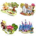 3D Paper Puzzles For Children DIY Toys 3D Paper Models House Warship Jigsaw Puzzles Child DIY Toys Christmas Gifts Toys TY79