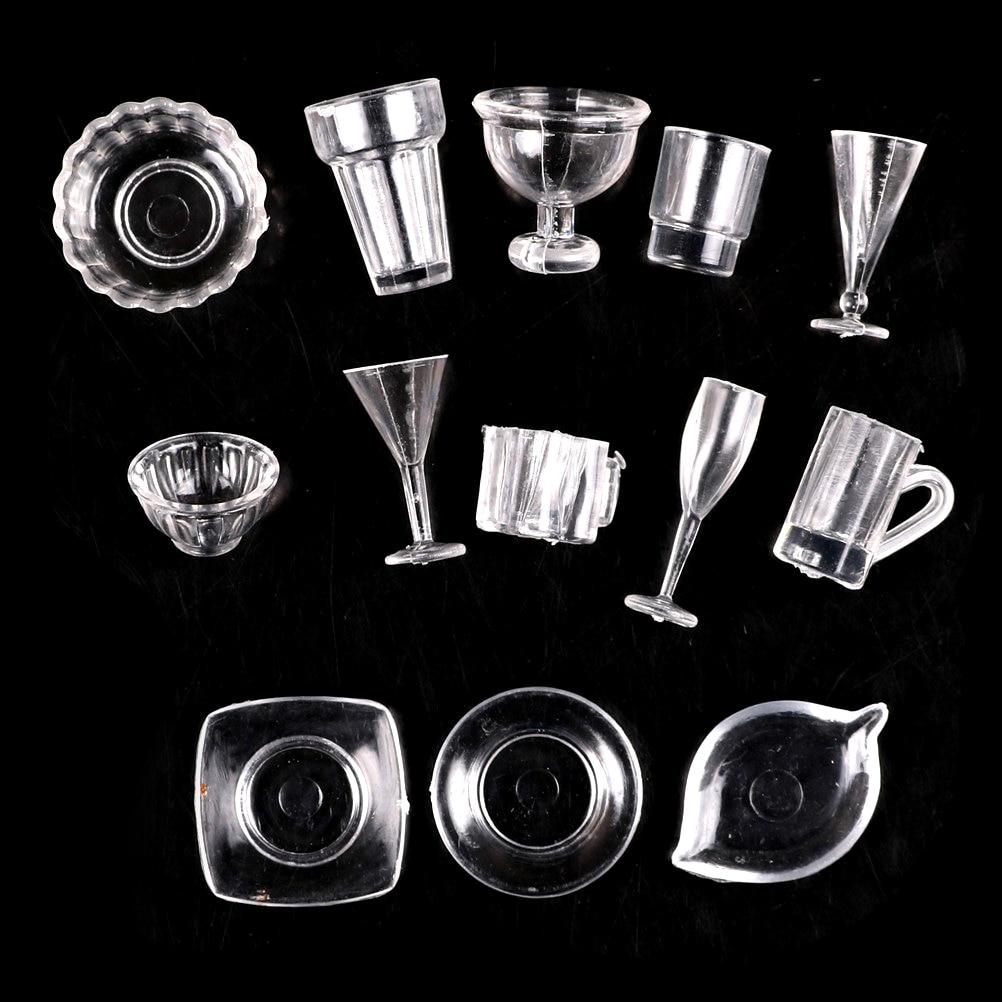 4pcs 1//12 Dollhouse Miniature White Round Dishes Plate Tableware Kitchen Toy JG