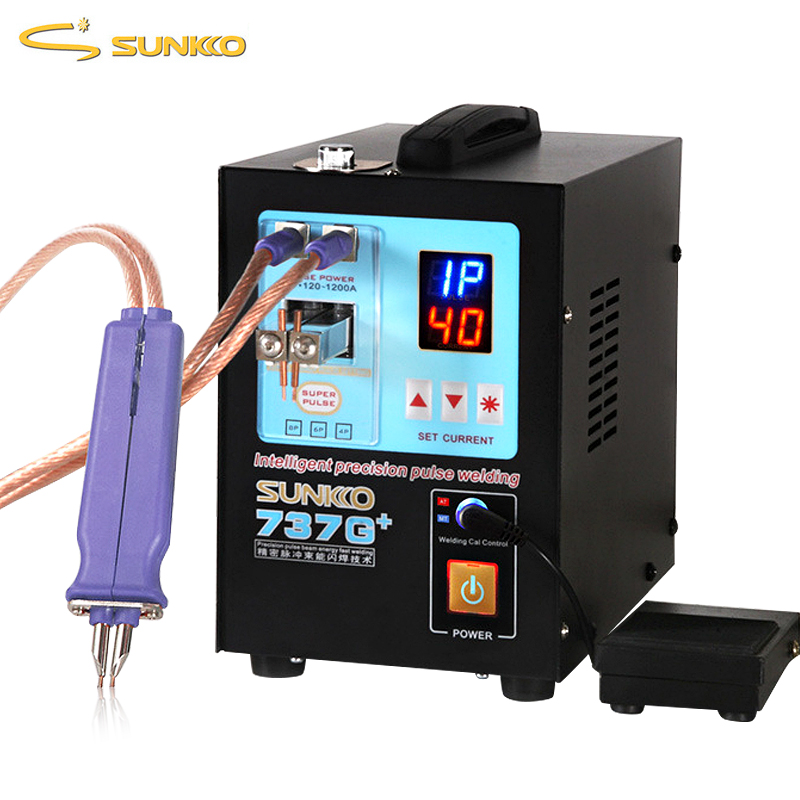 SUNKKO 737G New Upgraded Spot Welder 4.3KW High Power Battery Spot Welding Machine For Lithium Batteries Weld Pulse Spot Welders