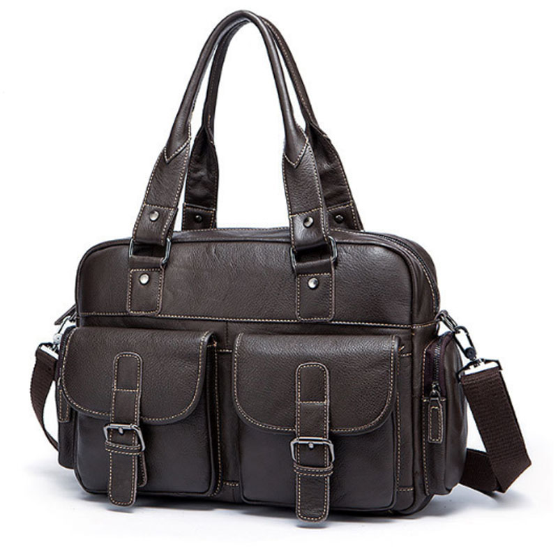 Men Genuine Leather Bag Cross body Top Handle Bags Casual  business trip Briefcases Handbags trend Men Leather BagMen Genuine Leather Bag Cross body Top Handle Bags Casual  business trip Briefcases Handbags trend Men Leather Bag