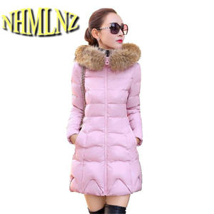 132dda0f06e NHMLNZ Women Medium long clothing Winter Jackets Coat