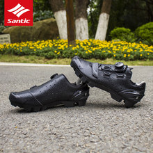 2017 Santic Cycling Shoes Men MTB Bike Shoes Athletics PU Self-Locking Mountain Bicycle Shoes Sneakers Zapatillas Ciclismo Black