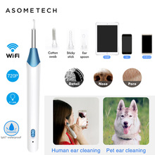 720P HD Wireless Ear Endoscope 5.5mm Visual Ear Cleaning Endoscope Camera For iPhone Android Smart Earwax Remover Ear Cleaner