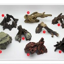 Аквариумный ящик для рептилий, украшение из смолы, 8 видов на выбор для рыб, креветок, черепах, ящериц, пауков