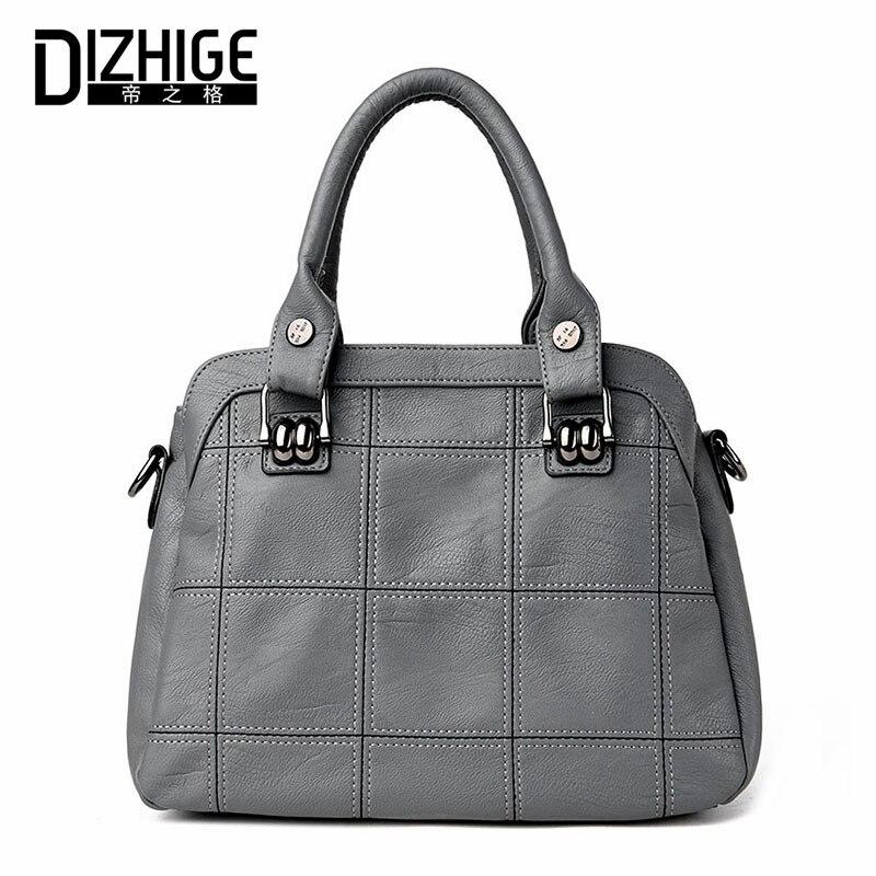 ФОТО DIZHIGE Brand Genuine Leather Bag Women Sheepskin Luxury Handbags Women Bags Designer Ladies Shoulder Bags Famous 2017 Sac Femme