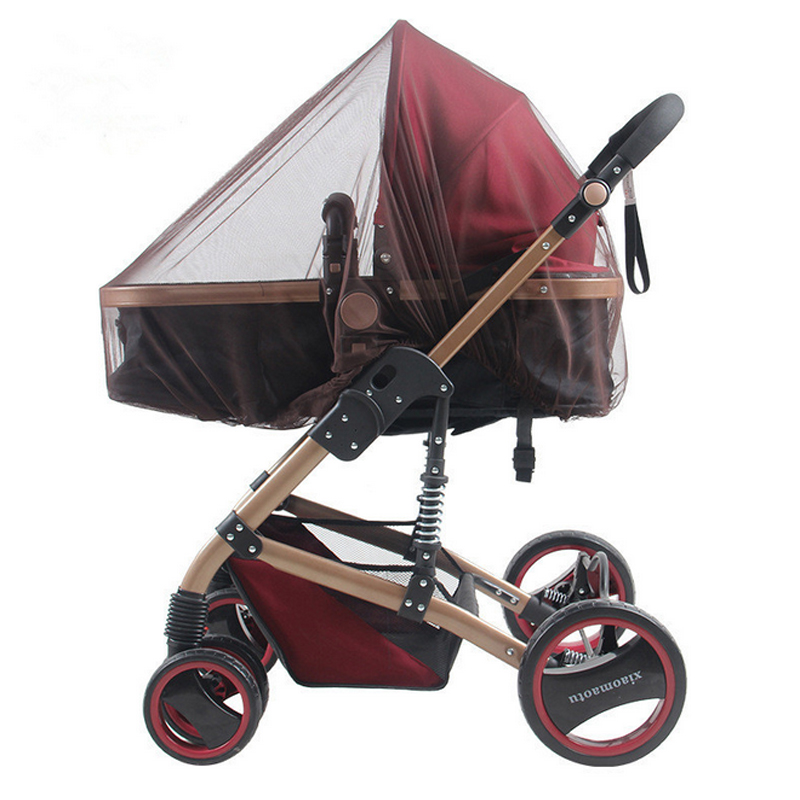 5 colors Baby Stroller Pushchair Cart Mosquito Insect Net Safe Mesh Buggy Crib Netting Baby Car Mosquito Net Outdoor protect baby stroller pushchair mosquito insect shield net safe infants protection mesh stroller accessories mosquito net trq0085