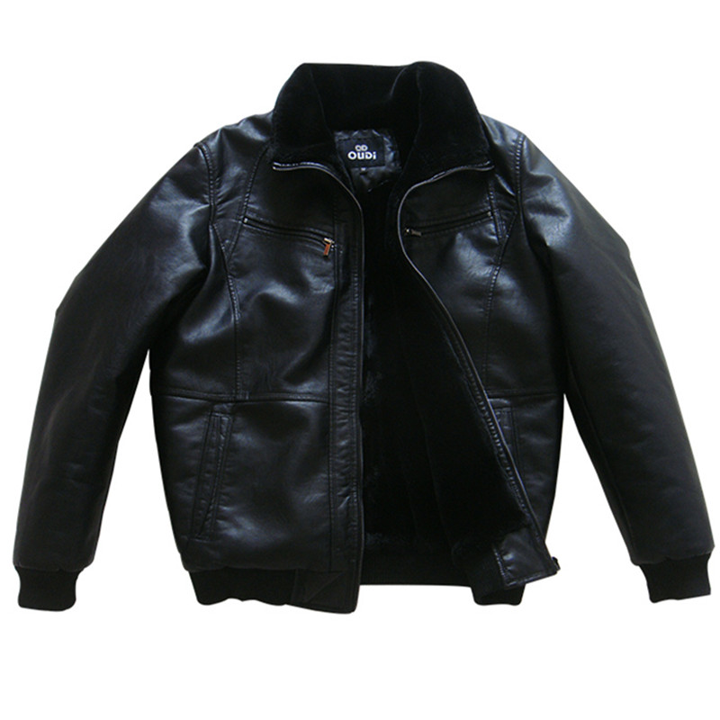 2017 Hommes D'hiver PU Vestes En Cuir Manteau Moto Marque Vêtements Survêtement Épaissir Manteau Homme Bomber Daim Vestes En Cuir En Peluche
