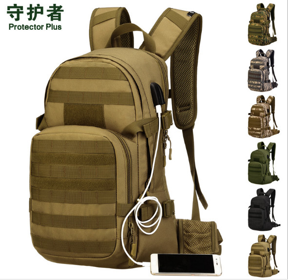 Protector Plus S439 Outdoor Sports Bag 25L Camouflage Nylon Tactical Military Trekking Hiking Cycling Backpack for2.5L water bag sinairsoft outdoor military tactical backpack trekking sport travel 25l nylon camping hiking trekking camouflage bag ly0062