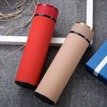 Creative Leather Cover Vacuum Flasks Thermos Bottle 500ml Stainless Steel Straight Cup Business Adult Portable Thermocup