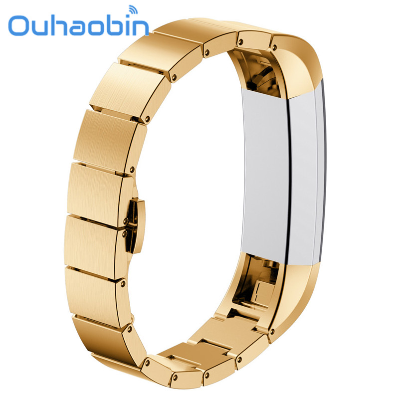 Ouhaobin 135-210mm Stainless Steel Watch Band Wrist strap For Fitbit Alta Smart Watch Gift Oct 19 Dropship