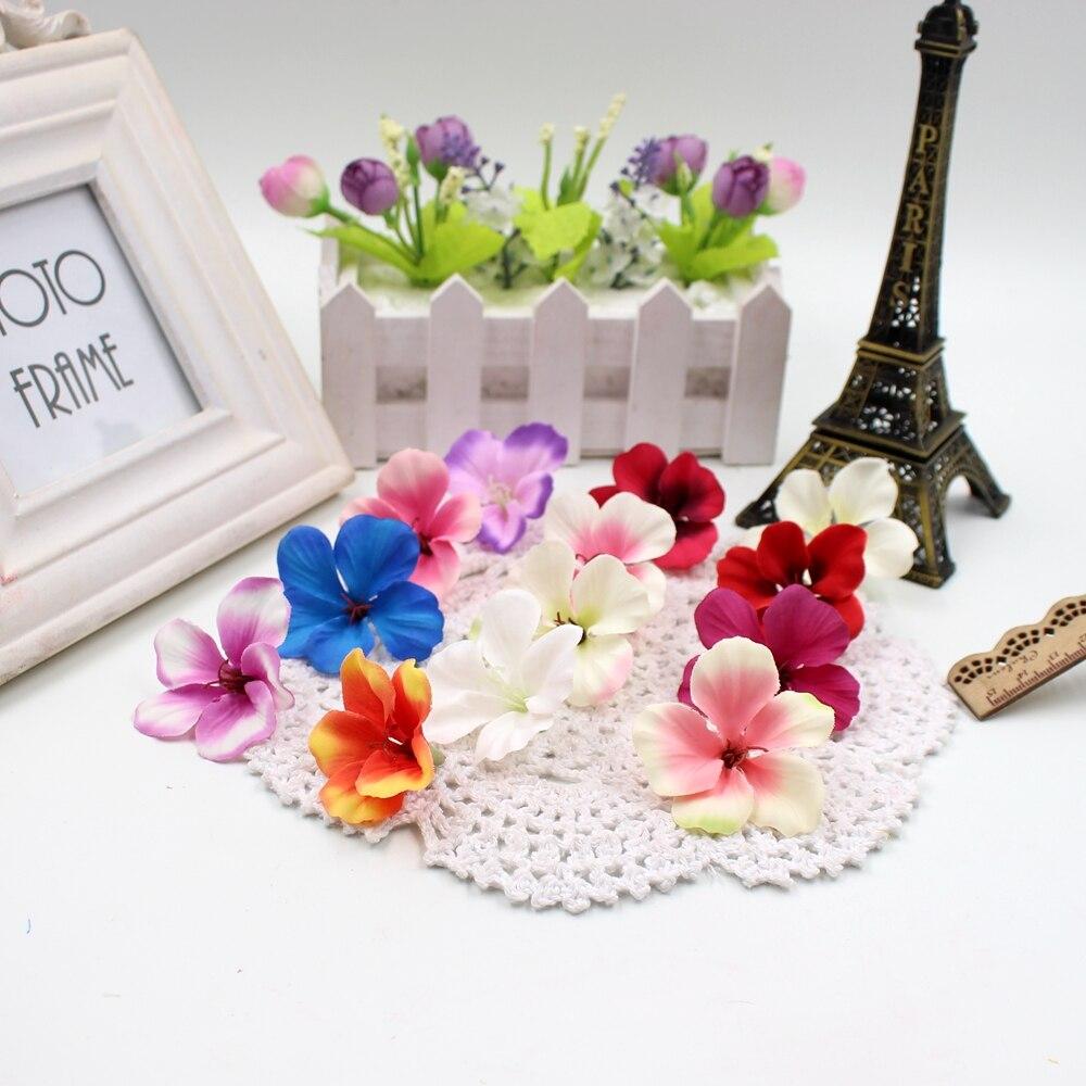 20 unids Primavera Gradiente de Seda de Flores de Orquídeas Flores Artificiales