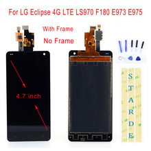 STARDE Replacement LCD For LG Eclipse 4G LTE LS970 F180 E973 E975 LCD Display Touch Screen Digitizer Assembly Frame 4.7