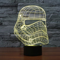 Star War Darth Vader 3D Optical Illusion Desk Table Light Lamp