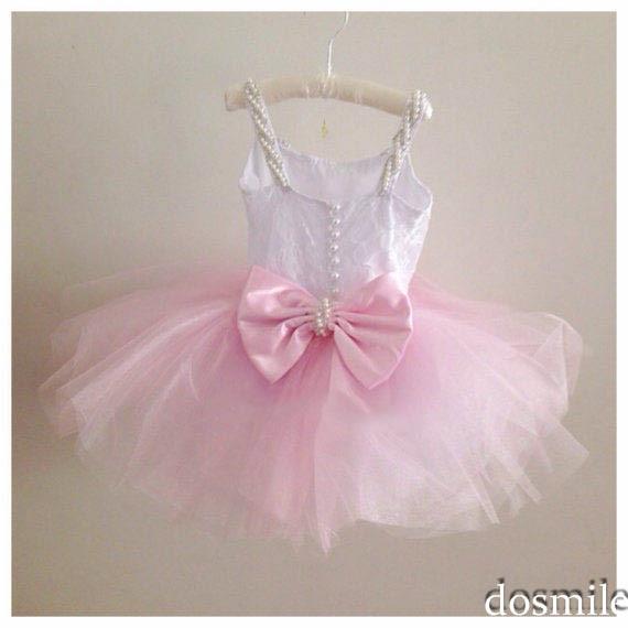 2016 hermosa rosa de tul de encaje vestido de bola del bebé vestidos ...