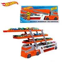 Hot wielen Zwaar Transport Voertuigen 6 Layer Kleine Auto Speelgoed Schaalbare Opslag Transporter Truck Jongen Educatief Speelgoed