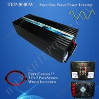 5000 Вт солнечной инвертор, чистая синусоида инвертор, DC 12 В до 220 В Мощность инвертор
