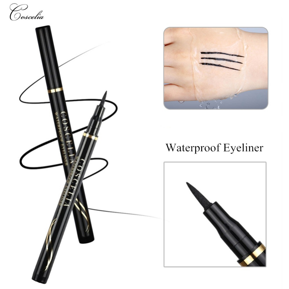 COSCELIA Waterproof Pencil For Eye Black Eyeliner Comestics Long-lasting Eye Pencil Makeup Tools Eyeliner Eyes Make Up ToolsCOSCELIA Waterproof Pencil For Eye Black Eyeliner Comestics Long-lasting Eye Pencil Makeup Tools Eyeliner Eyes Make Up Tools