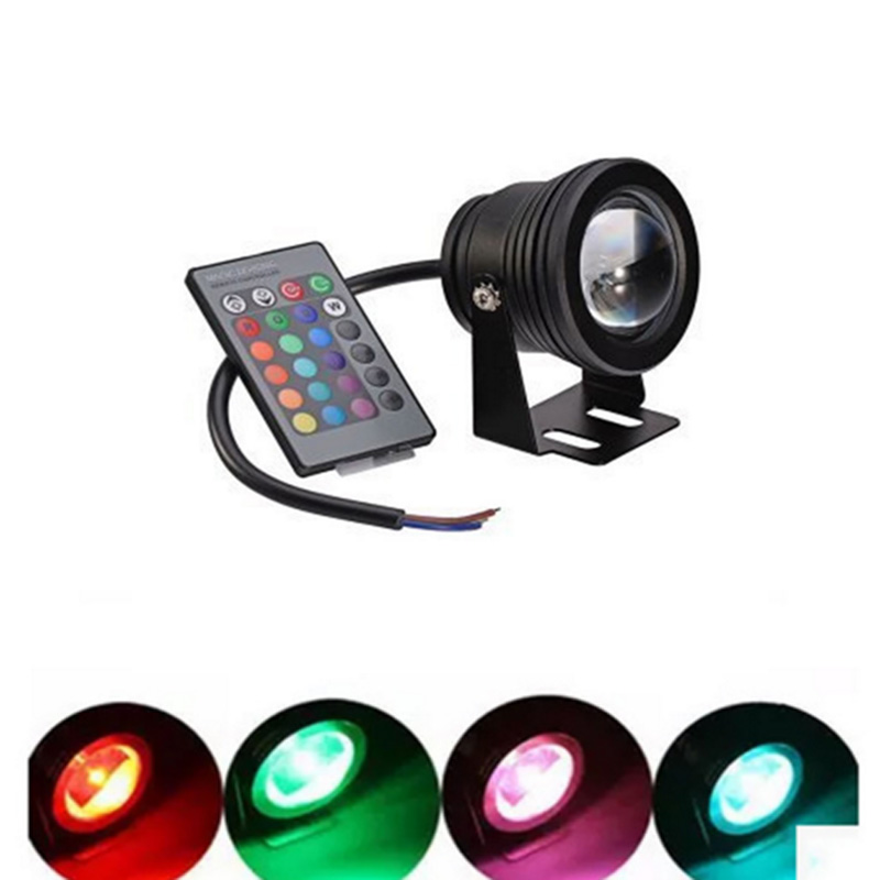 SPLEVISI IP68 Waterproof DC 12V 10W RGB LED Underwater Light Swimming Pool Pond Fish Tank Aquarium Fountain LED Light Lamp rgb 300mm 513 led swimming pool light 316l stainless 12v resin filled 18 24 35w swimming pool pond led light lamp