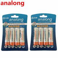 Analong faible autodécharge Durable AA batterie 1.2 V 2200 mAh Ni-MH Batteries rechargeables 1.2 V Batteries