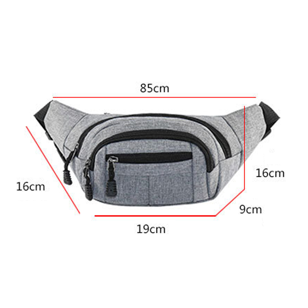 Utility Waist Bag Oxford Fanny Pack Long-Lasting Belt Red Bag Purse Casual Wear-Resistant Mens Chest Black Waist Bag Hot Sale drawstring waist sleeveless utility jumpsuit