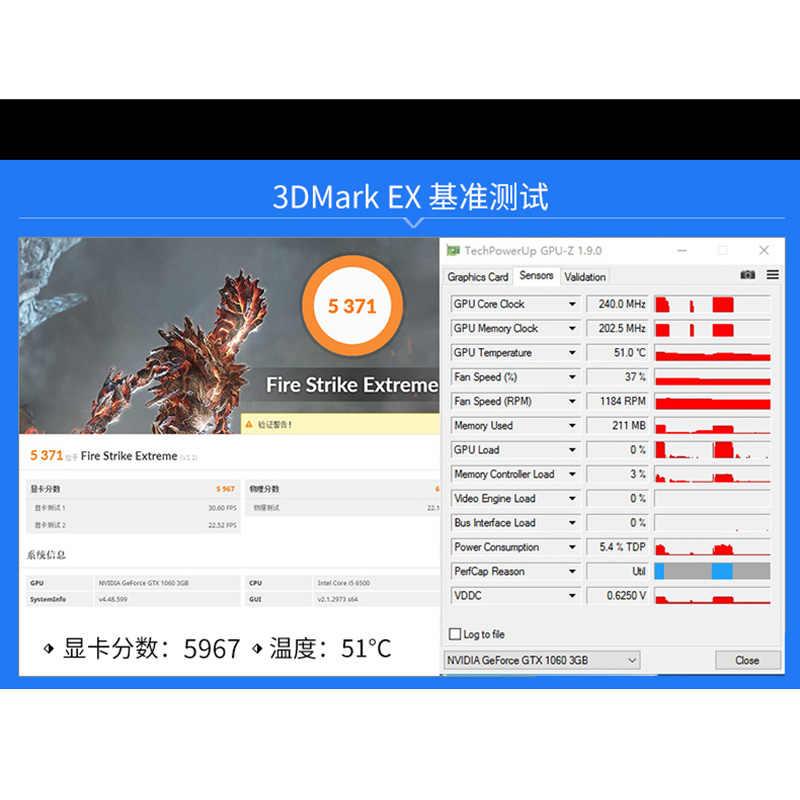 Original GIGABYTE Video Thẻ GTX 1060 G1 Chơi Game 3 GB Card Đồ Họa GPU Bản Đồ Cho nVIDIA Geforce GTX1060 3 GB 192Bit Videocard Thẻ