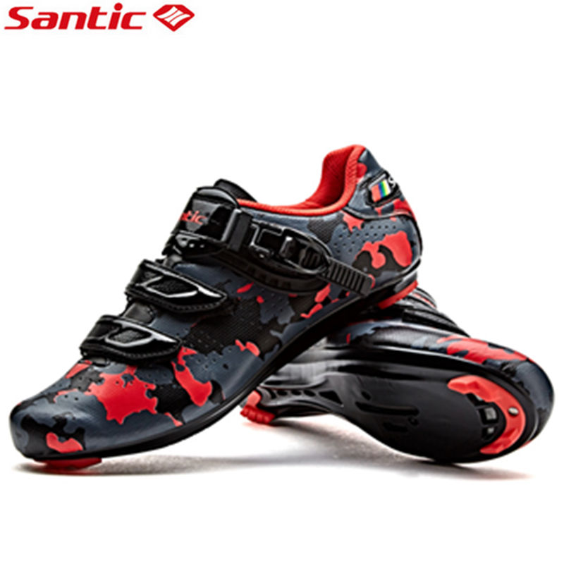 Santic Road Bicycle Shoes Auto-lock Mens Cycling Athletic Shoes Road Racing Bike Shoes Sneakers Zapatillas Deportivas Hombre антиугон auto lock