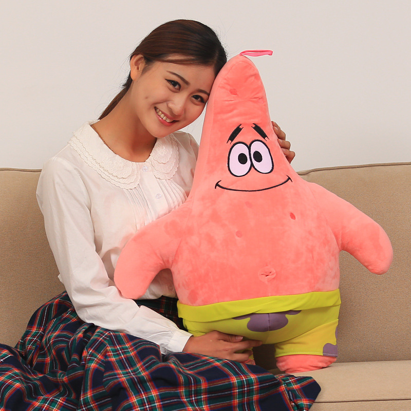 big stuffed patrick star toy plush dark pink doll gift about 85cm 0318big stuffed patrick star toy plush dark pink doll gift about 85cm 0318