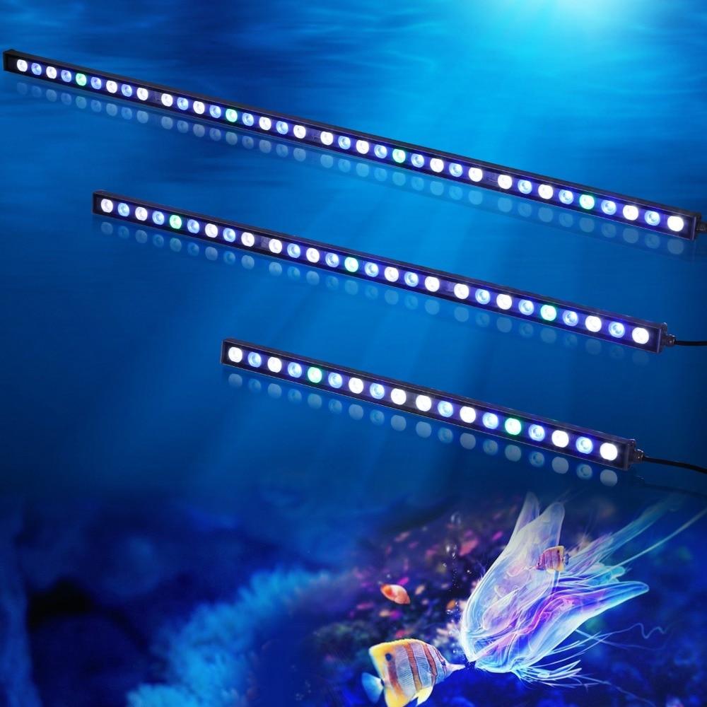 10пцс / лот 108В ИП65 Водоотпорна ЛЕД акваријска светлосна трака лампа за раст кораља гребена / биљка акваријума морски организми осветљење
