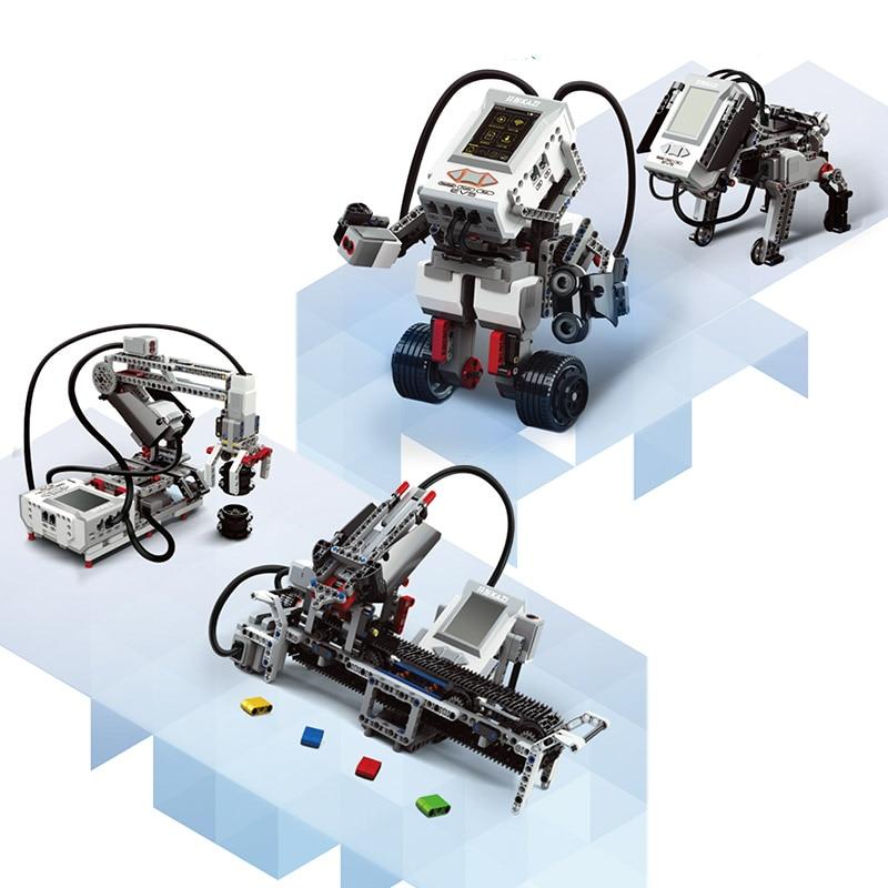 Vapor 822 piezas programación educación bloques de construcción tecnológica accesorios compatible con 45544 EV3 Core 95646