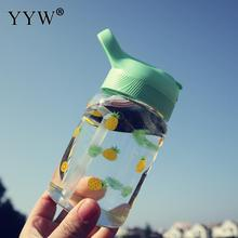 480ml Glass Bottle Coffee Milk Cups Cartoon Water Bottles With Straw Sports Water+Bottles For Cup Hydro Flask Bidon