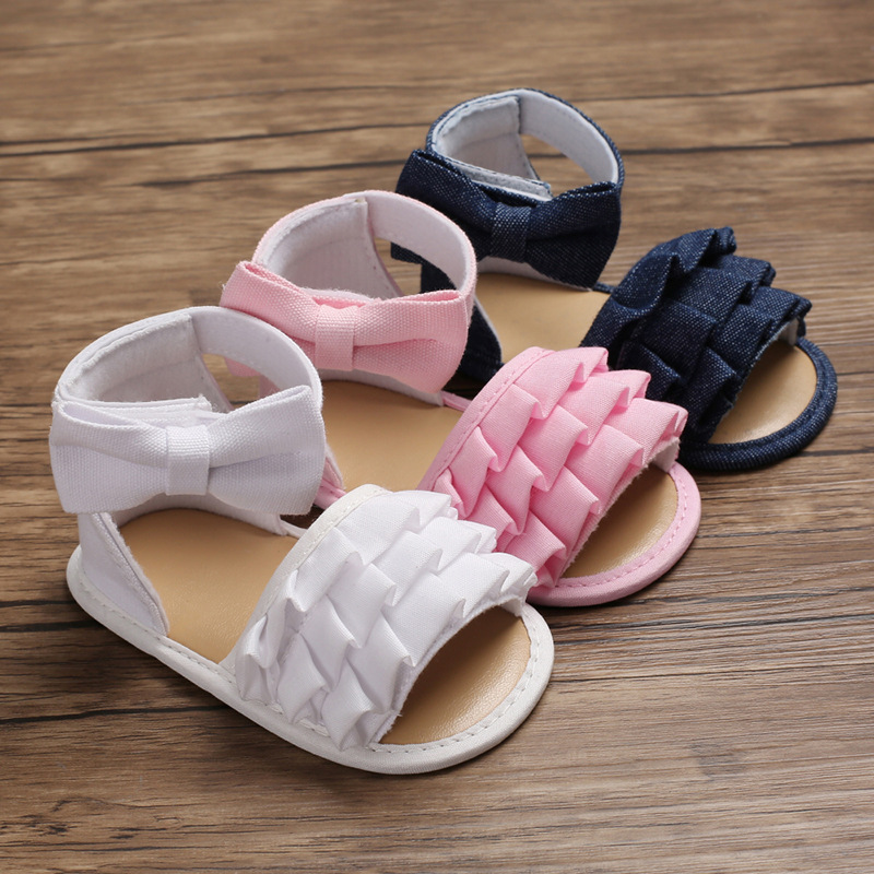 New Baby Summer Female Baby Princess Shoes First Walker Children's Shoes Baby Cotton Soft Bottom Wave Children's Shoes