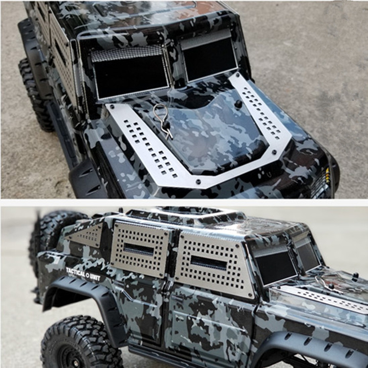 Rc Car Part 1/10 Traxxas TRX-4 Tactical Unit Body Shell Car Metal Armored Car Window Skid Board replacement rc car body shell spare part