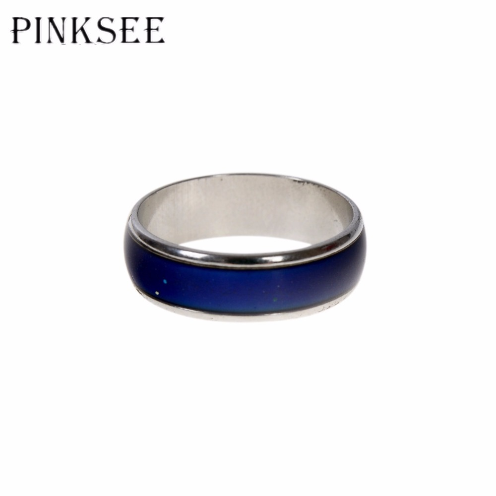 Color change online - Pinksee 4 Pcs Lot Finger Ring Magic Turtle Feeling Mood Rings Color Changing Emotion Temperature