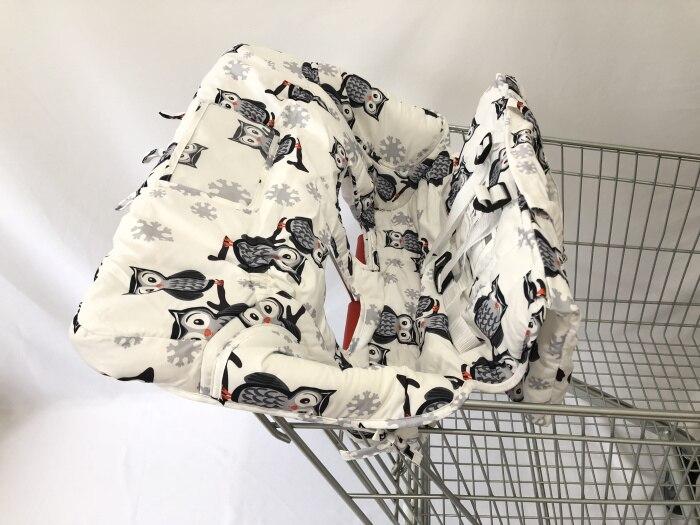 Чехол на колесиках с изображением совы и слона для детей с чехлом для смартфонов/чехол для детской коляски - Цвет: Owl