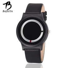 BAJEETA Hot Sale Simple Style Women Watch Lovers New Fashion Quartz Leather Men Watch Student Analog