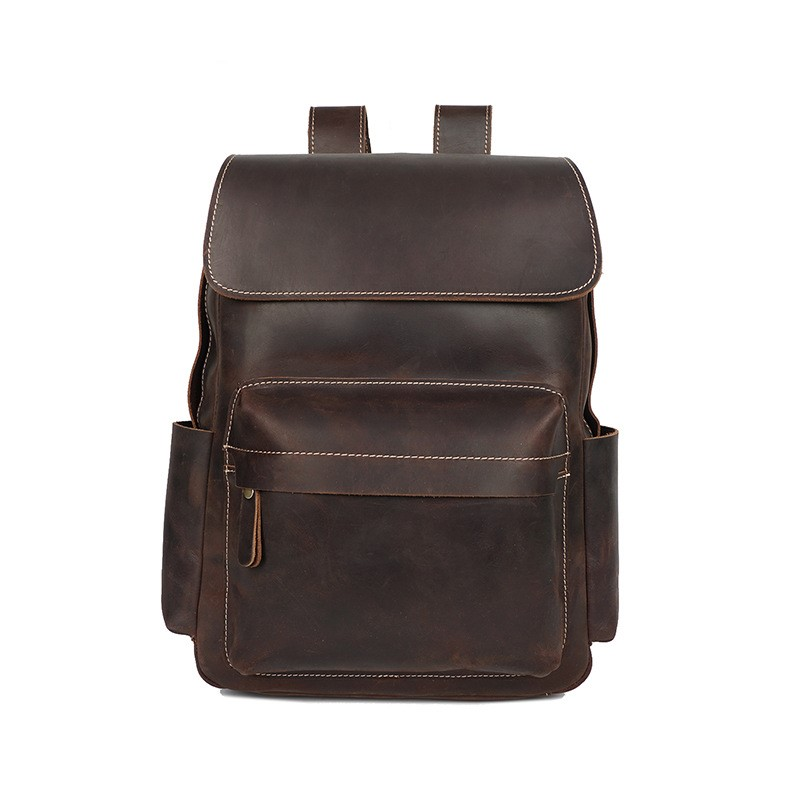 Fashion Genuine Leather Men Backpack Vintage Waterproof Cow Leather Women Backpacks Crazy Horse Leather Backpack bolsa masculinaFashion Genuine Leather Men Backpack Vintage Waterproof Cow Leather Women Backpacks Crazy Horse Leather Backpack bolsa masculina