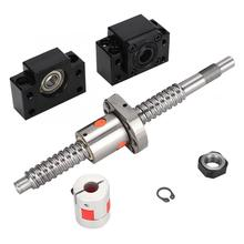 200mm SFU1605 Ball Screw with 6.35*10mm Coupler and BK12 BF12 End Supports cardan shaft