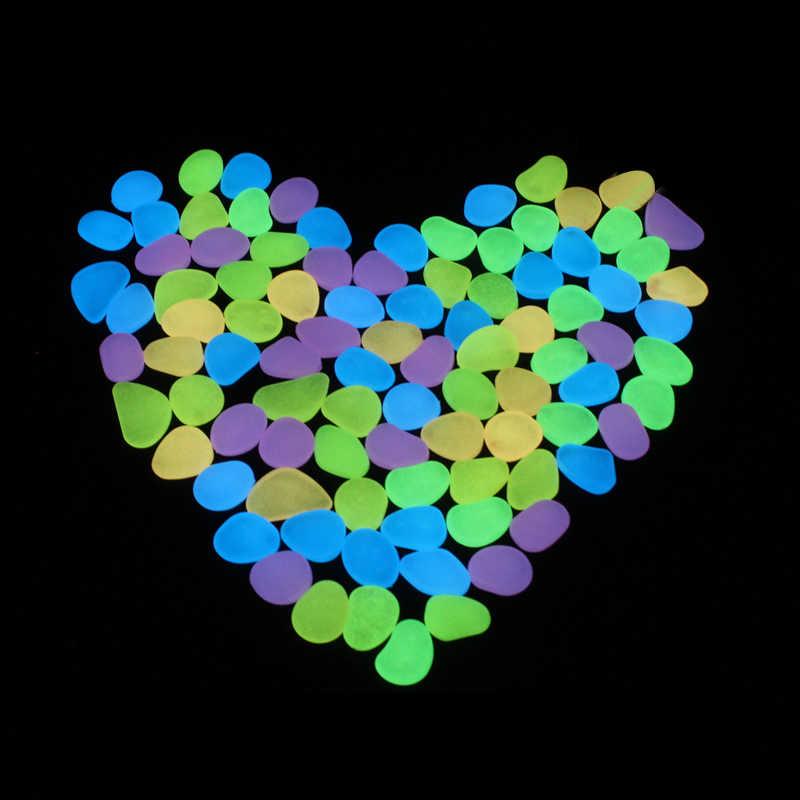 Новинка игрушки 50 шт. Светящиеся в темноте камушки детские подарки светящиеся кубики для напитков садовая аллея аквариум День Святого Валентина светящиеся камни