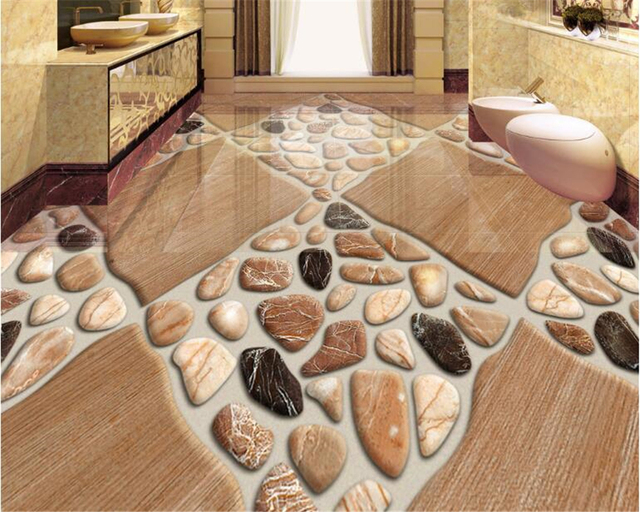 Beibehang Wallpaper For Walls D Flooring Painting Natural Stone - 3 dimensional floors