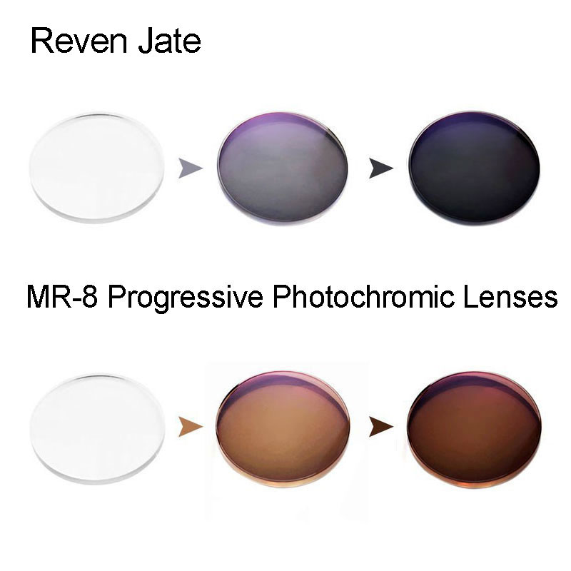MR 8 Photochromic Digital Free Form Progressive Prescription Optical Lenses With Fast Color Changing Performance