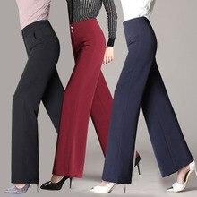 Весна, европейский стиль, повседневные женские брюки с высокой талией, широкие брюки, на пуговицах, с карманами, женские брендовые Капри размера плюс 4XL