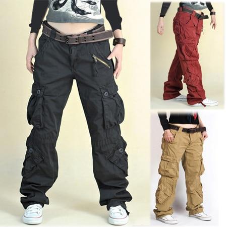 Baggy Khaki Cargo Pants