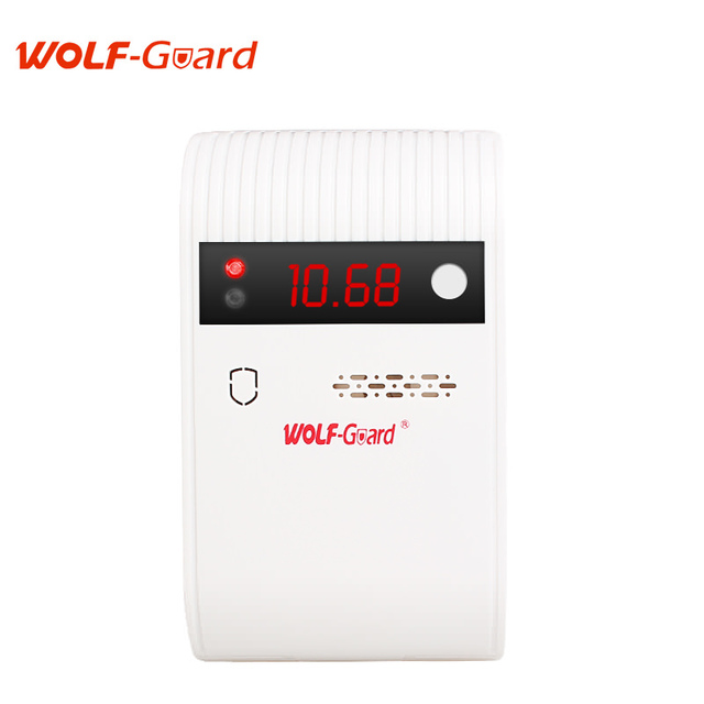 Wolf-Guard 433mhz Wireless Indoor Intelligent Gas Detector 85dB Alarming Sensor Led Display For Home Security Alarm system