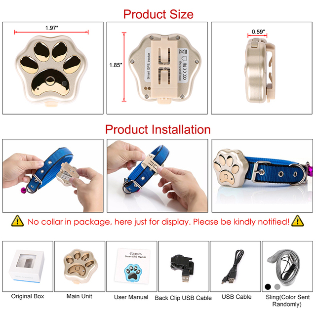 Smart Waterproof IP66 Mini Pet GPS  Realtime Tracking LED Rolling Light Long Time Standby  4